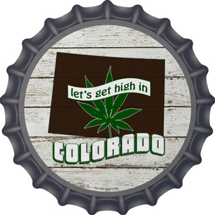 Lets Get High In Colorado Wholesale Novelty Metal Bottle Cap BC-1295