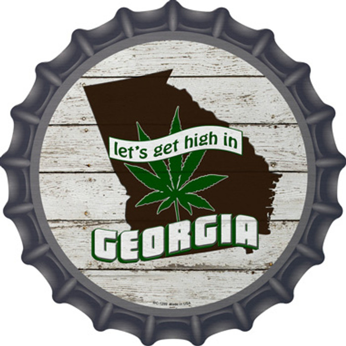 Lets Get High In Georgia Wholesale Novelty Metal Bottle Cap BC-1299