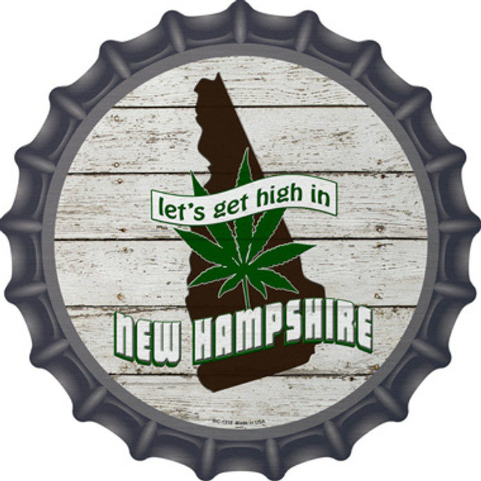 Lets Get High In New Hampshire Wholesale Novelty Metal Bottle Cap BC-1318