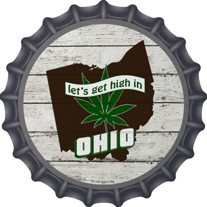 Lets Get High In Ohio Wholesale Novelty Metal Bottle Cap BC-1324