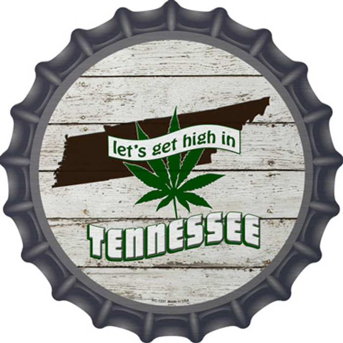 Lets Get High In Tennessee Wholesale Novelty Metal Bottle Cap BC-1331