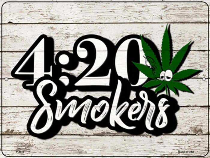 420 Smokers Wholesale Novelty Metal Parking Sign P-3312