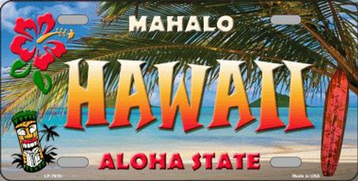 Hawaii State Background Novelty Wholesale Metal License Plate