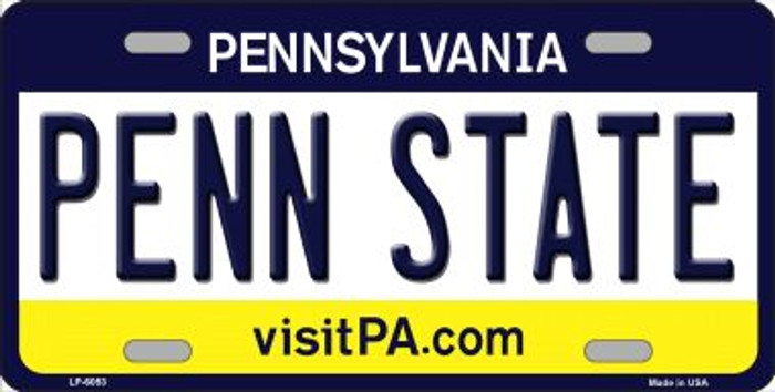 Penn State Pennsylvania State Background Novelty Wholesale Metal License Plate
