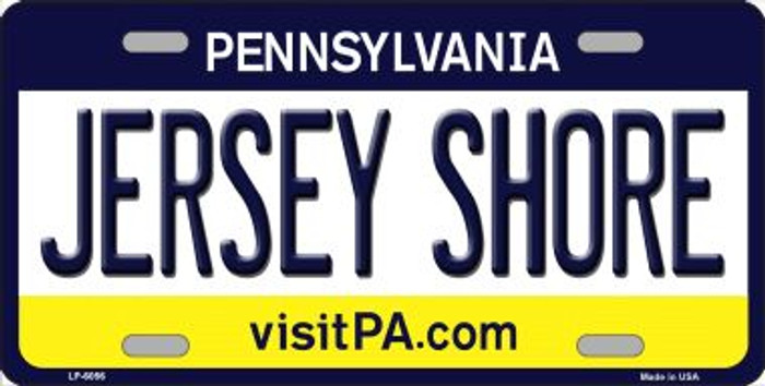 Jersey Shore Pennsylvania State Background Novelty Wholesale Metal License Plate