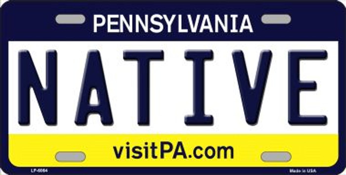 Native Pennsylvania State Background Novelty Wholesale Metal License Plate