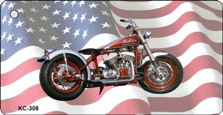 Indian Motorcycle American Flag Wholesale Novelty Key Chain