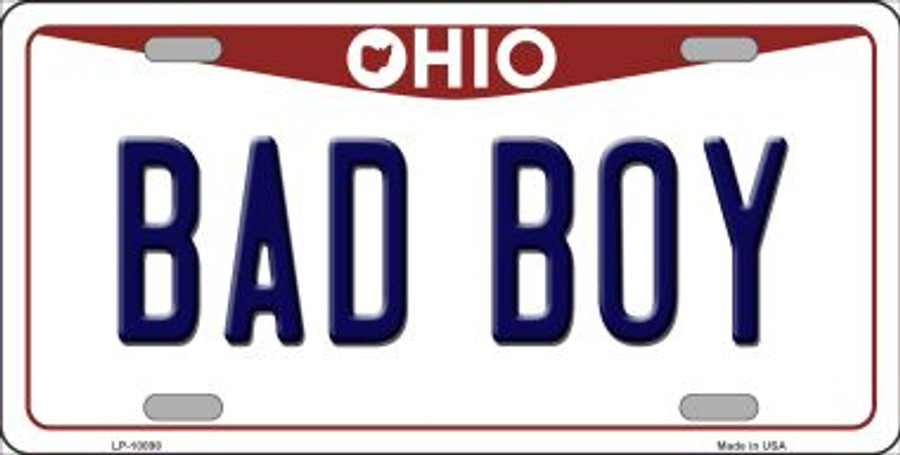 Bad Boy Ohio Background Wholesale Metal Novelty License Plate