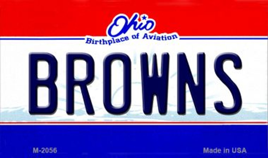 Browns Ohio State License Plate Wholesale Magnet M-2056