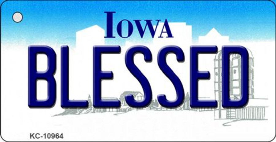 Blessed Iowa State License Plate Novelty Wholesale Key Chain KC-10964