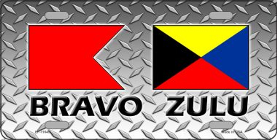 Bravo Zulu Wholesale Novelty License Plate LP-11645