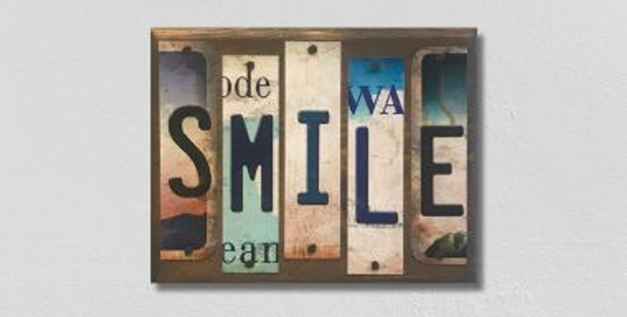 Smile License Plate Strips Wholesale Novelty Wood Sign WS-096