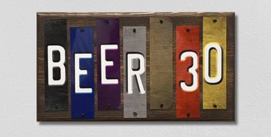 Beer 30 Fun Strips Wholesale Novelty Wood Sign WS-102