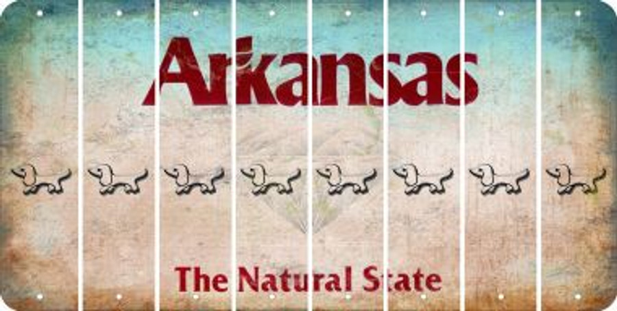 Arkansas DOG Cut License Plate Strips (Set of 8) LPS-AR1-073