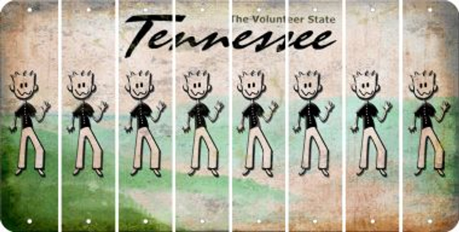 Tennessee DAD Cut License Plate Strips (Set of 8) LPS-TN1-071