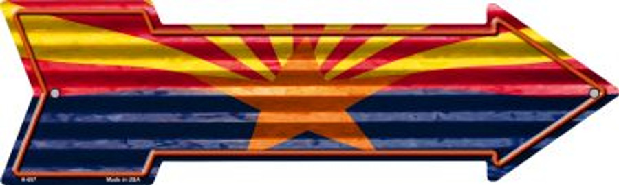 Arizona Flag Wholesale Novelty Arrow Sign A-657