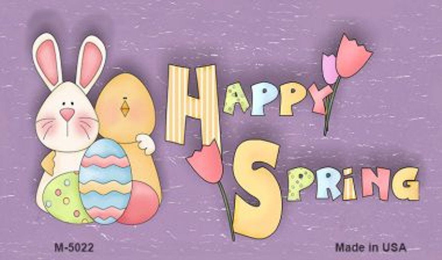 Happy Spring Yellow Wholesale Metal Novelty Magnet M-5022