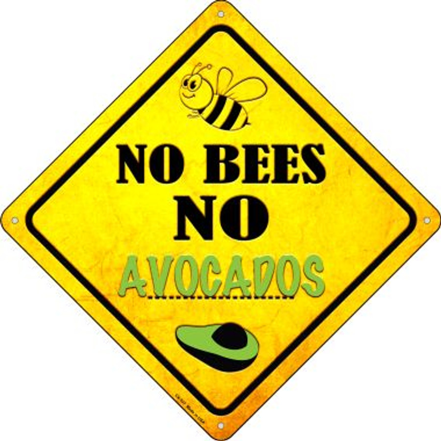 No Bees No Avocados Wholesale Novelty Crossing Sign CX-337
