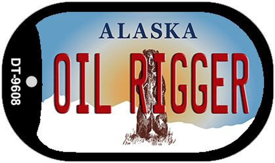 Oil Rigger Alaska Wholesale Novelty Metal Dog Tag Necklace DT-9608