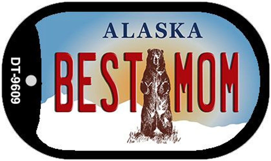 Best Mom Alaska Wholesale Novelty Metal Dog Tag Necklace DT-9609