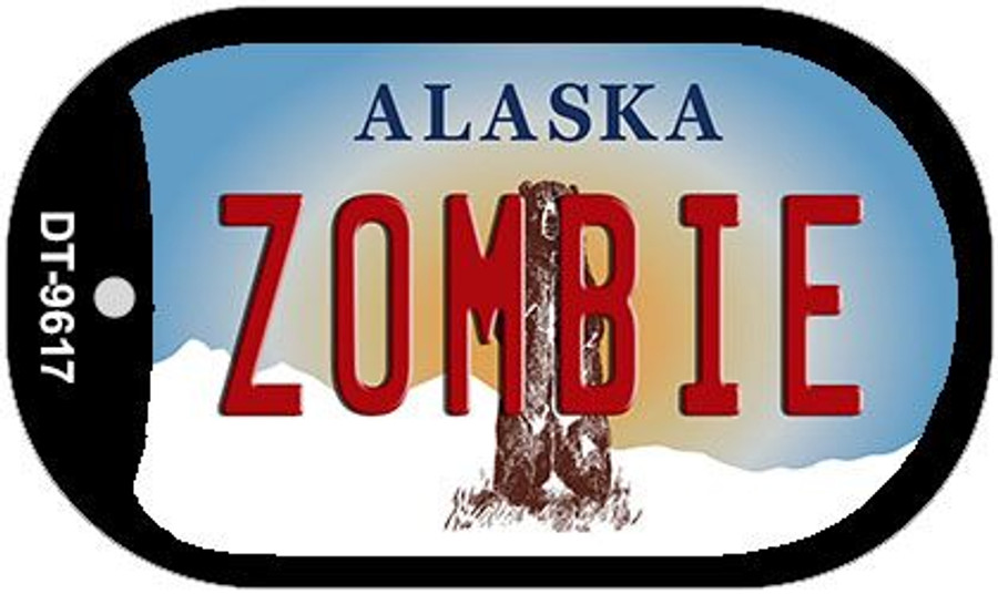 Zombie Alaska Wholesale Novelty Metal Dog Tag Necklace DT-9617