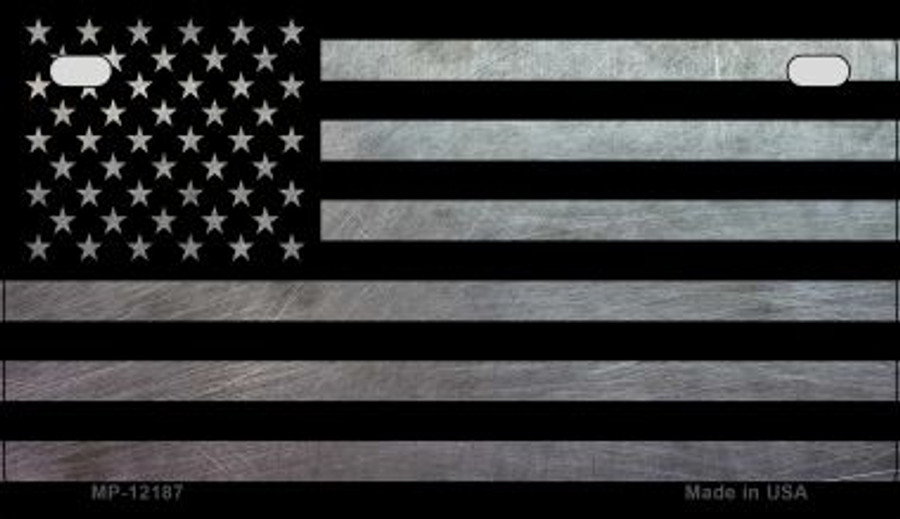 American Flag Wholesale Novelty Metal Motorcycle Plate MP-12187