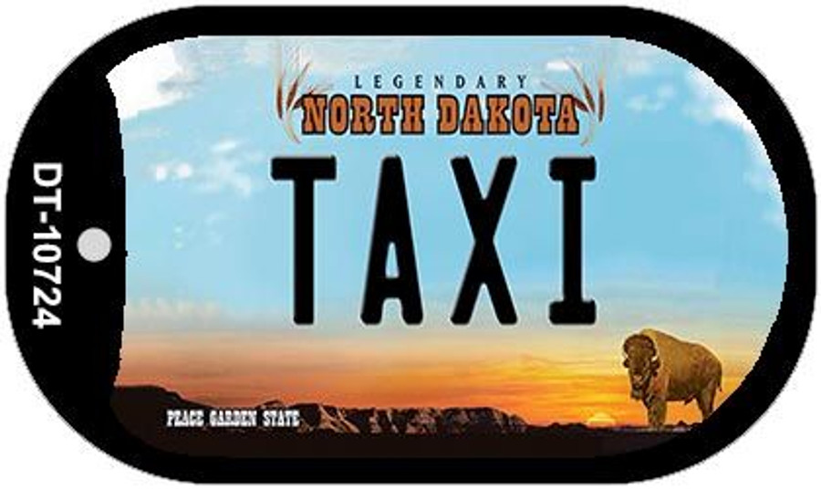 Taxi North Dakota Wholesale Novelty Metal Dog Tag Necklace DT-10724