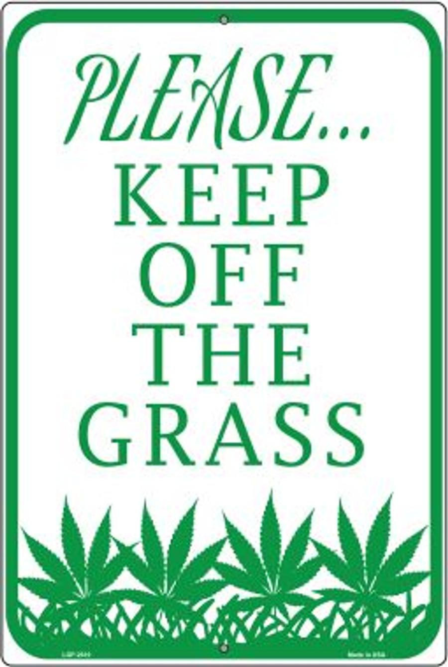 Please Keep Off Grass Wholesale Novelty Large Parking Sign LGP-2610