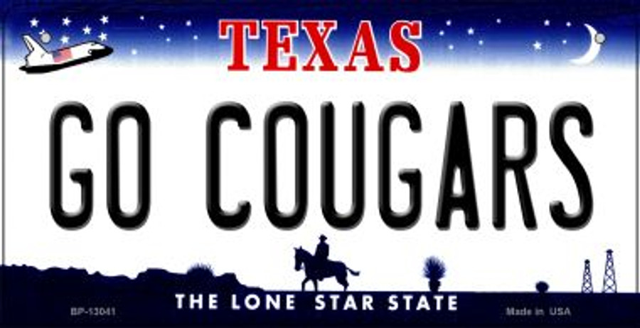 Go Cougars Wholesale Novelty Metal Bicycle Plate BP-13041