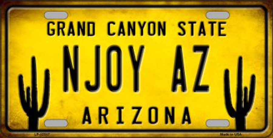 Arizona NJOY AZ Wholesale Novelty Metal License Plate LP-12317