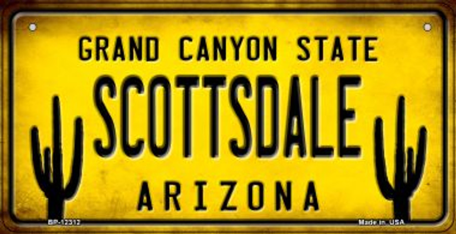 Arizona Scottsdale Wholesale Novelty Metal Bicycle Plate BP-12313