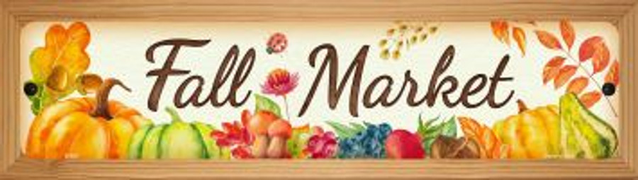 Fall Market Wholesale Novelty Wood Mounted Metal Mini Street Sign WB-K-903