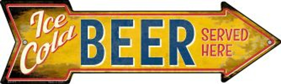 Ice Cold Beer Served Here Wholesale Novelty Mini Metal Arrow MA-411