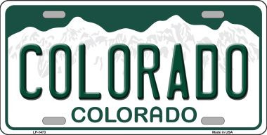 Arizona State License Plate >> Colorado Novelty State Background Wholesale Metal License ...