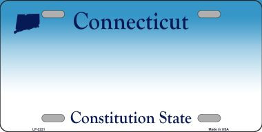 Connecticut State Background Blank Novelty Wholesale Metal