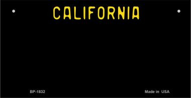 California Black State Background Novelty Wholesale Bicycle License Plate  BP-1832