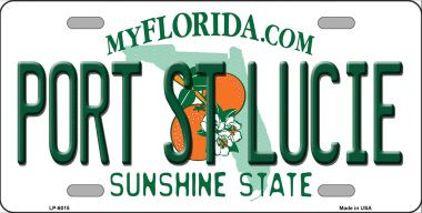 Port St Lucie Florida Novelty Wholesale Metal License Plate