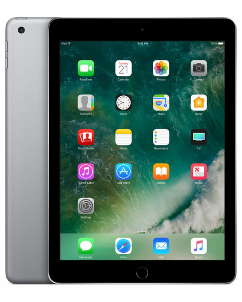 Apple iPad (Wi-Fi, 128GB) - Space Grey (Refurbished) - 5th Generation - 2017 - A1822