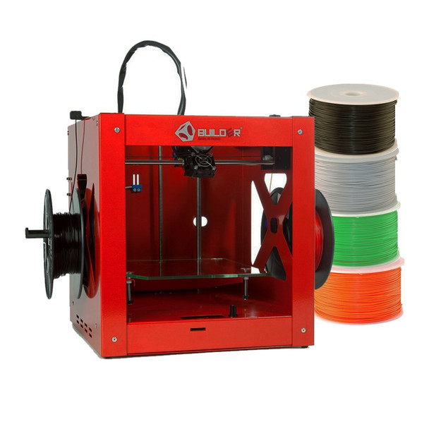 Builder Dual-feed Red Edition 8717953103475 3D Printer