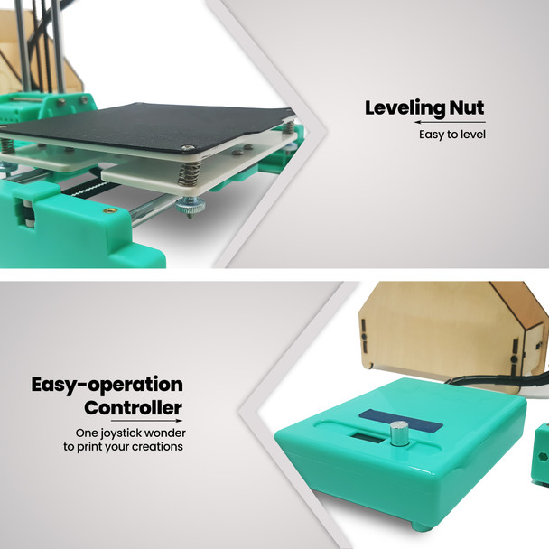 easyThreeD-printer-features-leveling-nut-and-easy-operation-controller