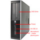 Refurbished HP Elite 8300 SFF PC i5 4GB 250GB Win 10 Pro - front ports
