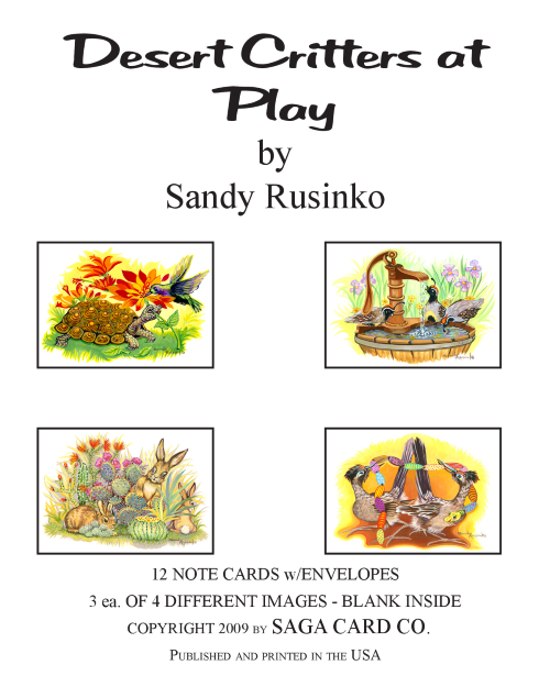 N-A29 Desert Critters at Play by Sandy Rusinko