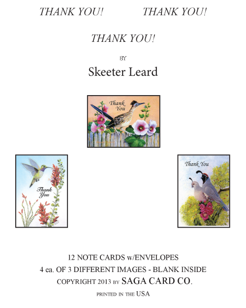 N-A31 Thank You  by Skeeter Leard