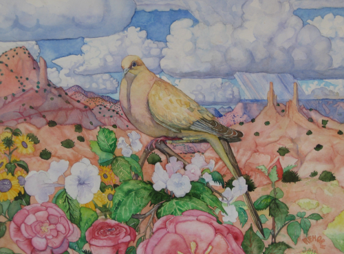 AC-940  Golden Mourning Dove by  Don Rehorn