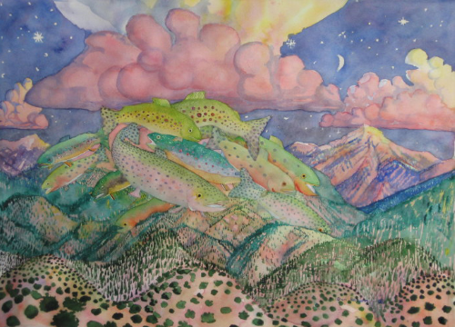 AC-954  Twilight over Truchas by  Don Rehorn