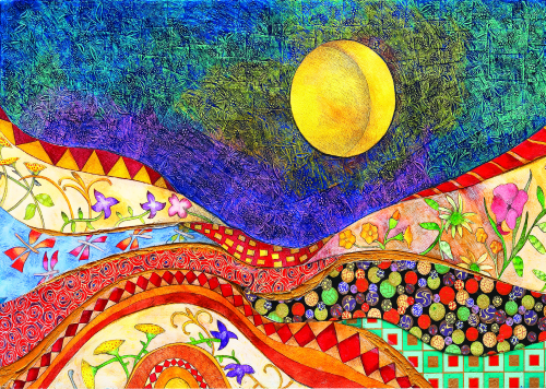 AC-961 Moon Over Flowers  by Patricia Wyatt