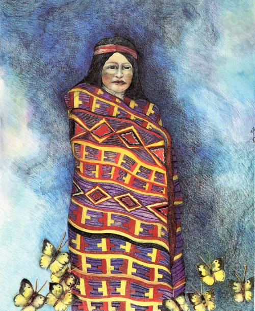 AC-977 The Gentle Winds of The East Wrap This Blanket Around Her  by Patricia Wyatt