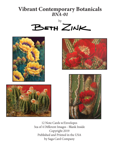 BNA-01 Vibrant Contemporary Botanicals by Beth Zink