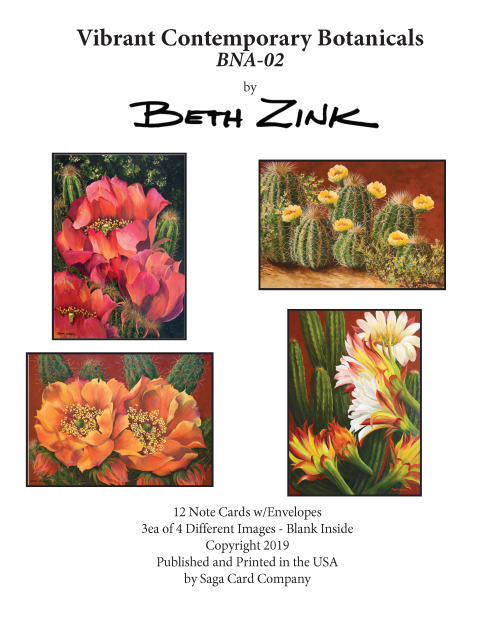 BNA-02 Vibrant Contemporary Botanicals by Beth Zink