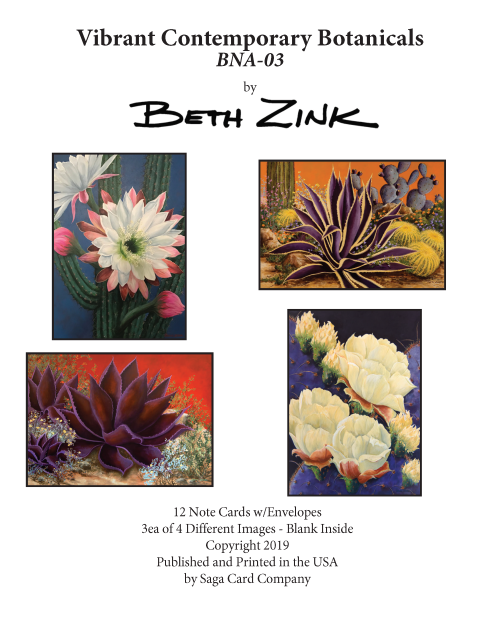 BNA-03 Vibrant Contemporary Botanicals by Beth Zink
